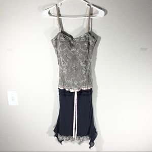 Cache Beaded Elegant Midi Dress